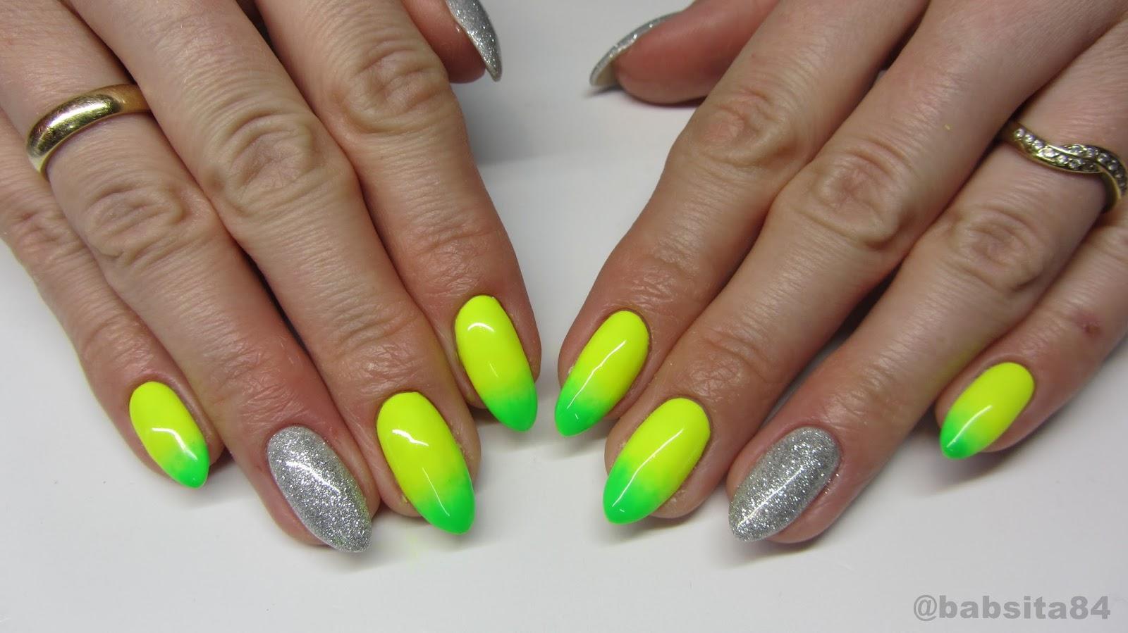 Baseveheinails Neonowe Cieniowane Paznokcie Lakiery Sleek Shine