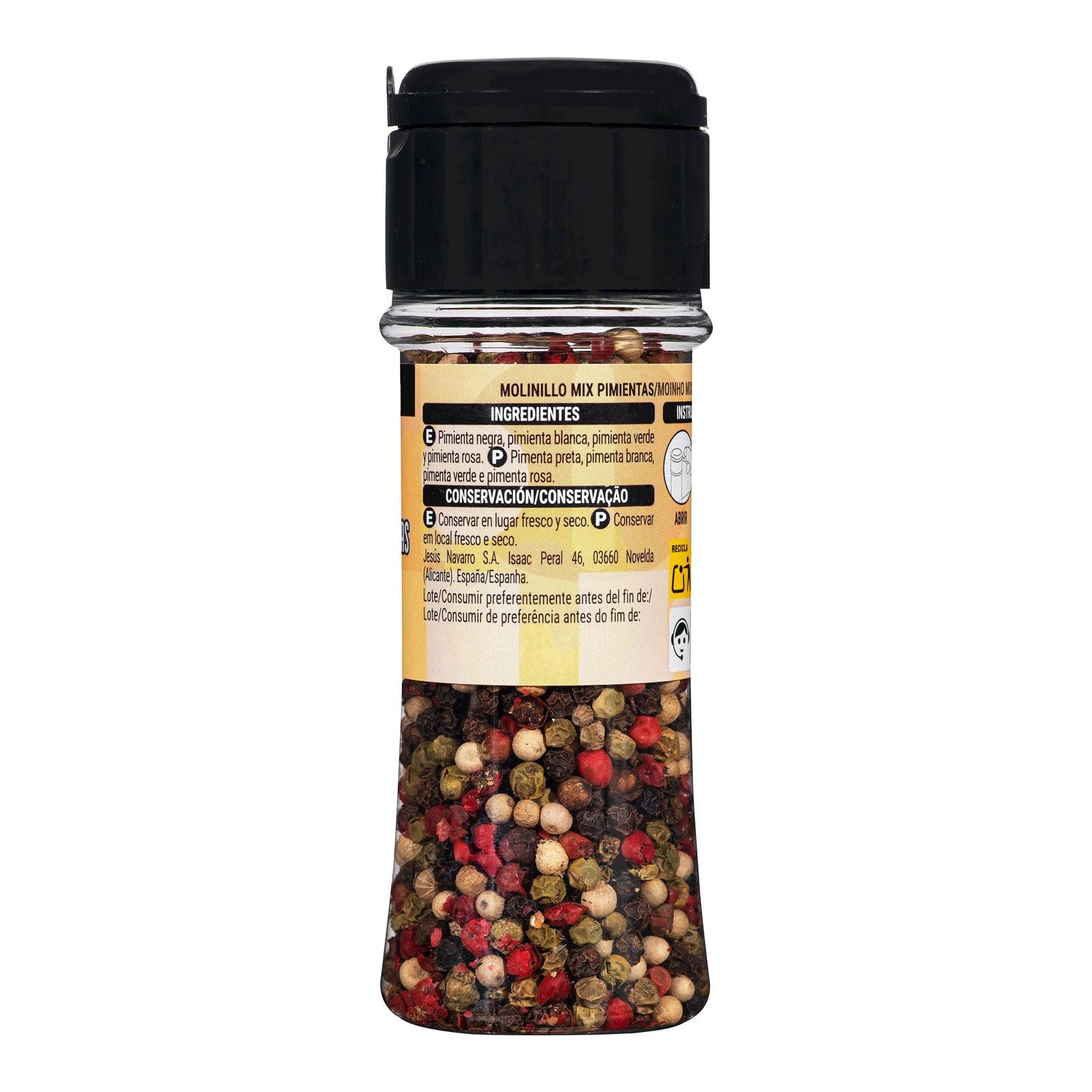 Molinillo mix de pimientas Hacendado