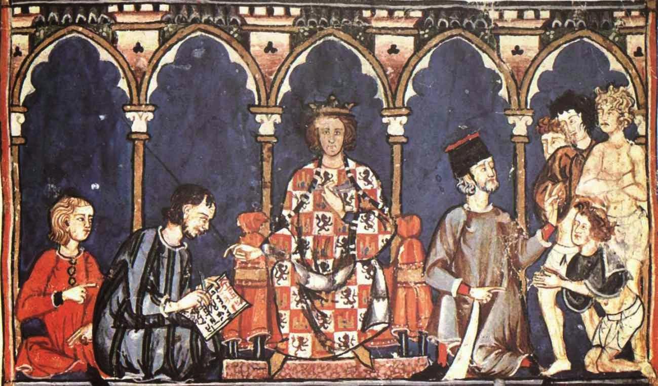Cuadro de Alfonso X el Sabio