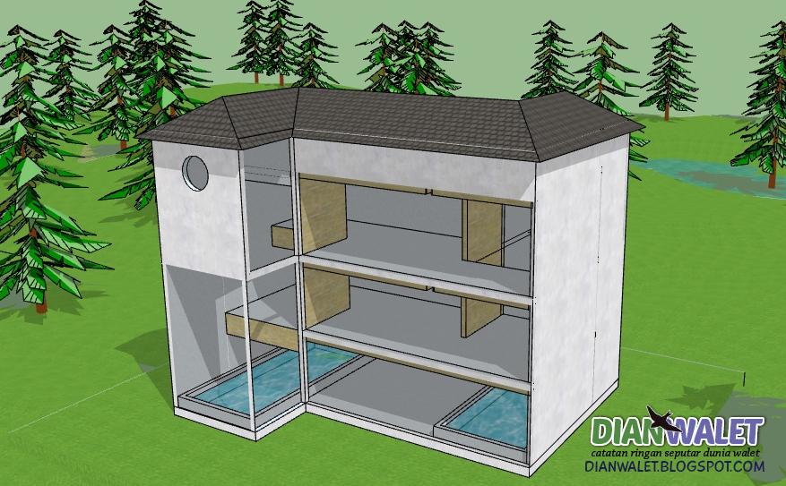 Desain Gedung Walet (RBW) 4X7 3 Lantai dan 2 Rumah Monyet