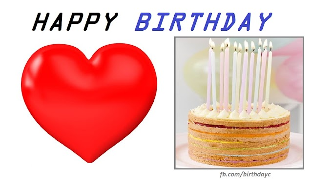 Birthday greeting card with heart picture
