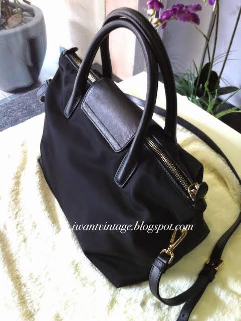 997449538289 I Want Vintage   Vintage Designer Handbags: Prada Tessuto Nylon Tote ...