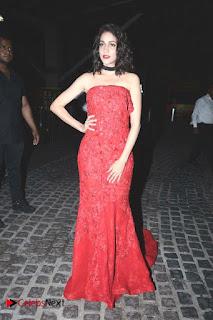Actress Lavanya Tripathi Pictures in Red Long Dress at Britannia Filmfare Awards 2016  0012.jpg