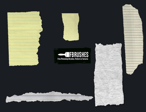 03 Torn Paper Brushes