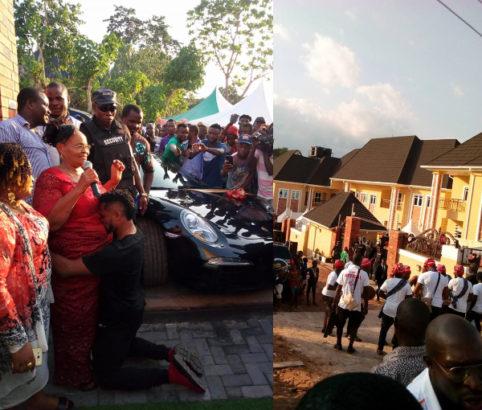 Nigerian footballer, Chikeluba Ofoedu buys his mother a Porsche car