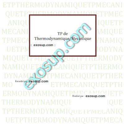 Compte rendu du tp de mécanique et thermodynamique s1