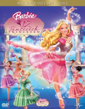 Poster Of Barbie in the 12 Dancing Princesses 2006 Dual Audio 700MB DVDRip [Hindi - English] Free Download Watch Online Worldfree4u