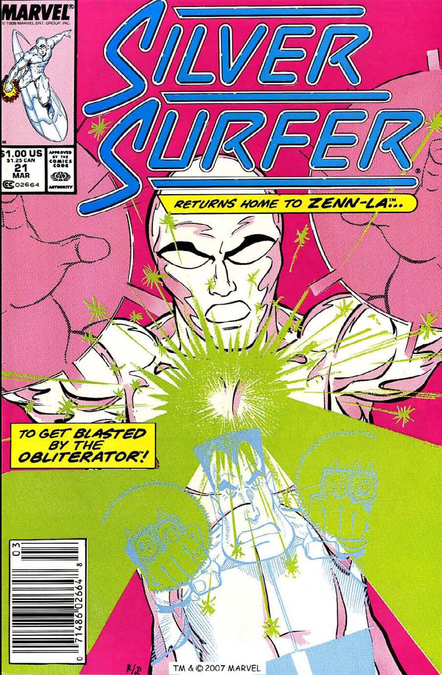 Read online Silver Surfer (1987) comic -  Issue #21 - 1