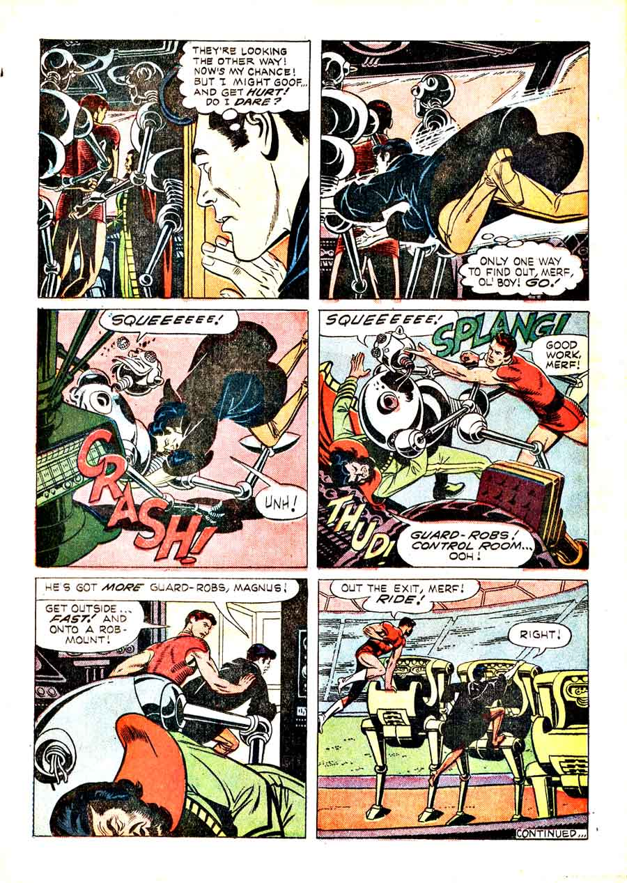 Magnus Robot Fighter v1 #19 gold key silver age 1960s comic book page art by Russ Manning