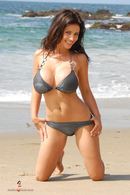 Denise-Milani-Beach-Silver-bikini-hottest-photoshoot-pics-11