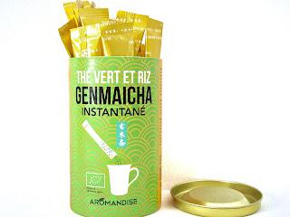 Thé vert et riz Genmaicha instantané - Aromandise