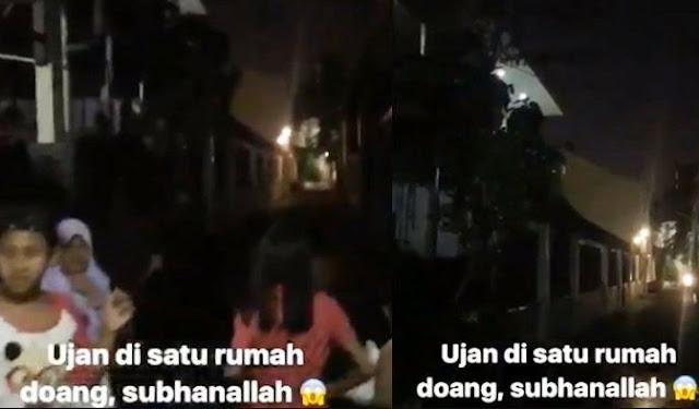 VIRAL! Video Hujan di Tebet Hanya Terjadi di Satu Rumah Saja, Kok Bisa Ya?