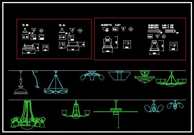 CAD Drawings Free Download Lighting Symbols CAD