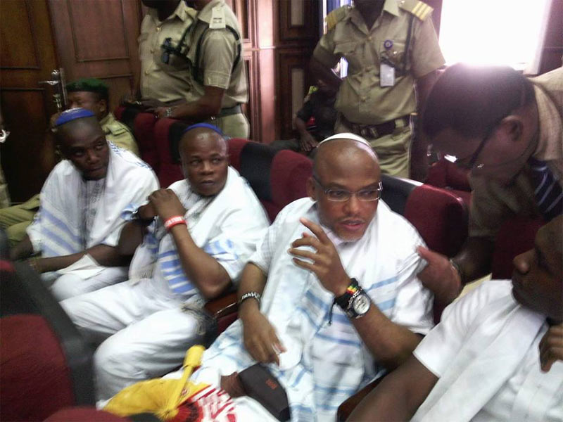 Check out Nnamdi Kanu's appearance in court today