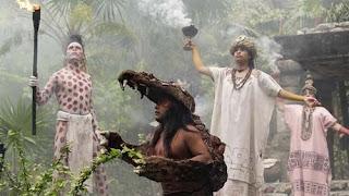 Ceremonia maya, antes de sacrificar a Yax T'ul