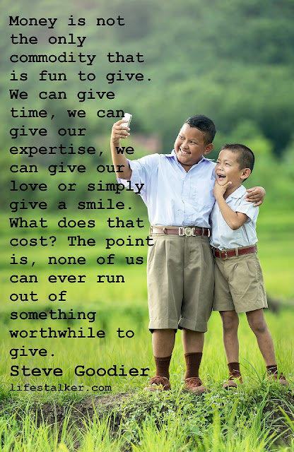 Generosity is the smile