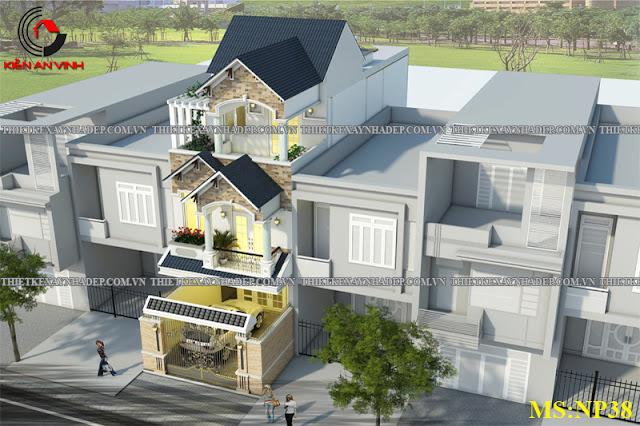 Mẫu thiết kế đẹp 2 tầng bán cổ điển mặt tiền 5m tại Long An Thiet-ke-nha-2-tang-dep-c