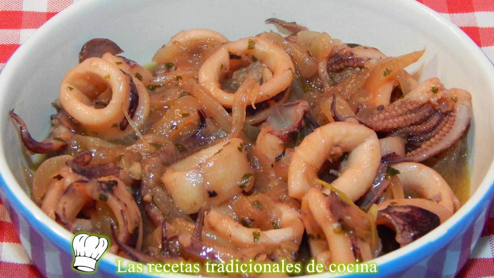 Receta f cil de calamares con cebolla recetas de cocina for Ingredientes para cocinar