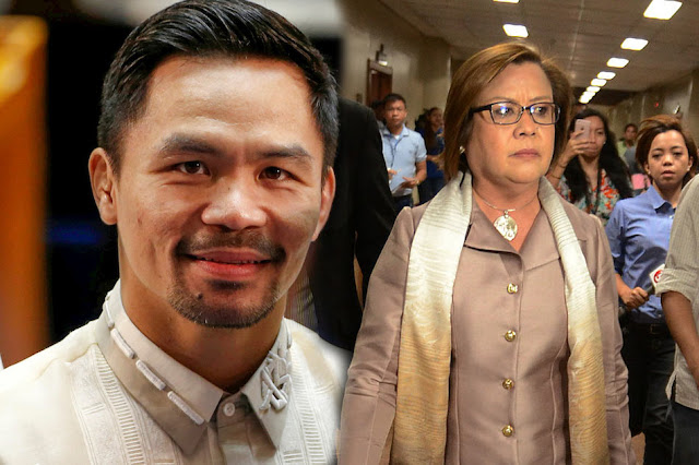 Battle of neophytes: Pacquiao 'lectures' De Lima on rules