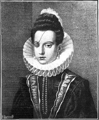Grabado de Ana de Mendoza, princesa de Éboli, publicado en los primeros años del siglo XX