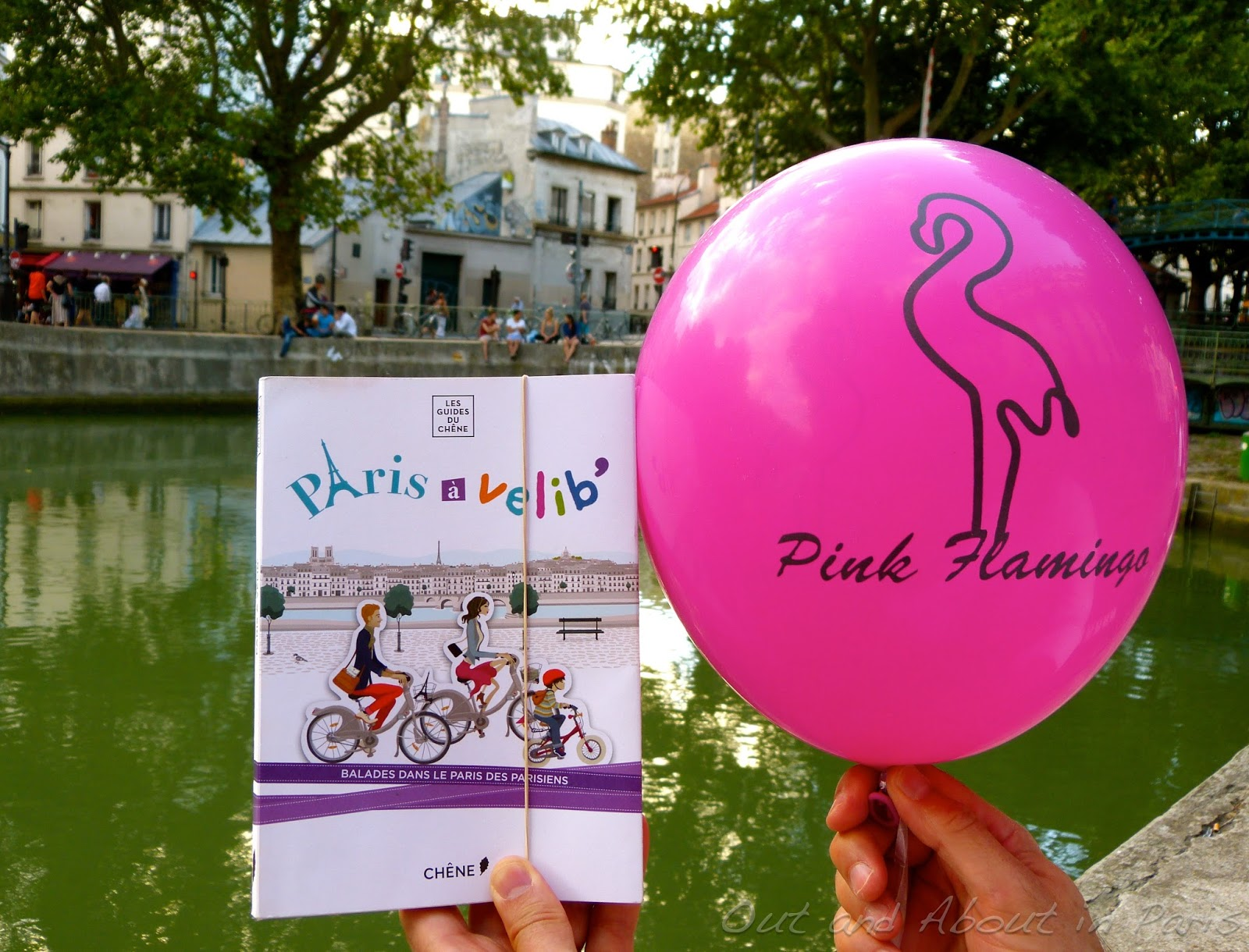 Terrasse Canal Saint Martin pink flamingo pizza delivered to your picnic at the canal