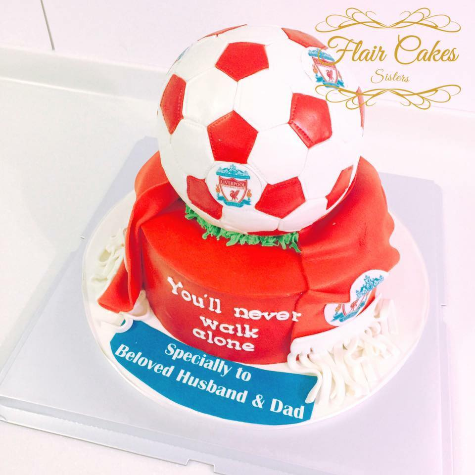 Flair Cakes Sisters Liverpool Theme Cake