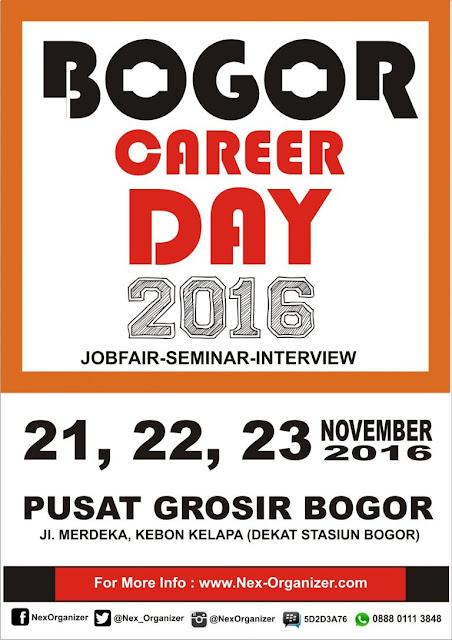 Job fair Bogor di PGB November 2016
