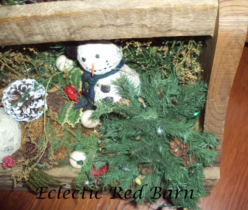 Smaller Snowman Decorated for the Holidays