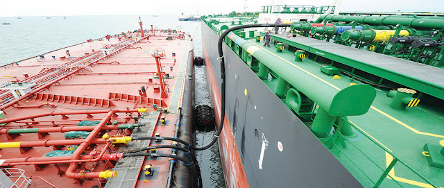 Bunkering on ship