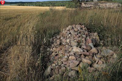 Куча бутового камня с полей