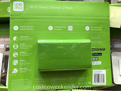 Costco 1243066 - Wemo Wi-Fi Smart Dimmer Switch (2 pack): convenenient and great for any home