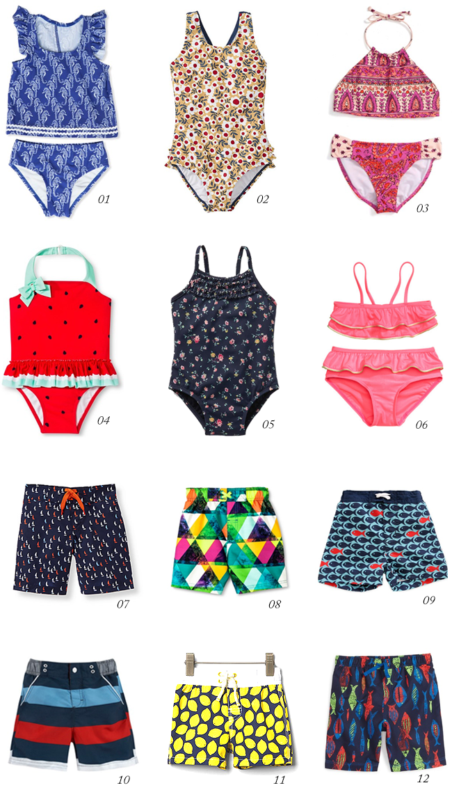 12 Stylish Kids' Swim Suits // Bubby and Bean