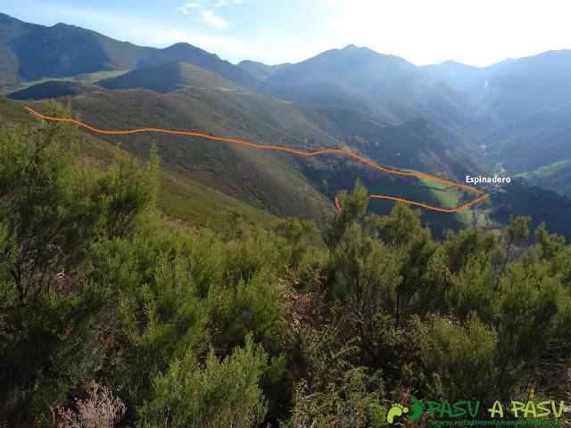 Dolmen de Merillés: Bajada a Espinaredo