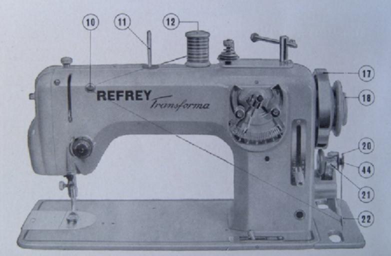 refrey transforma 427 maquina de coser devanado hilo canilla
