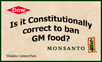 Is it Constitutionally correct to ban GM food?
