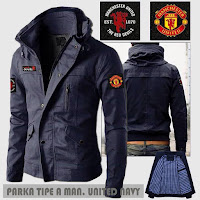 Jual Jaket Parka Bola Manchester United