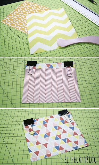 Cómo crear una sencilla tarjeta con papeles estampados