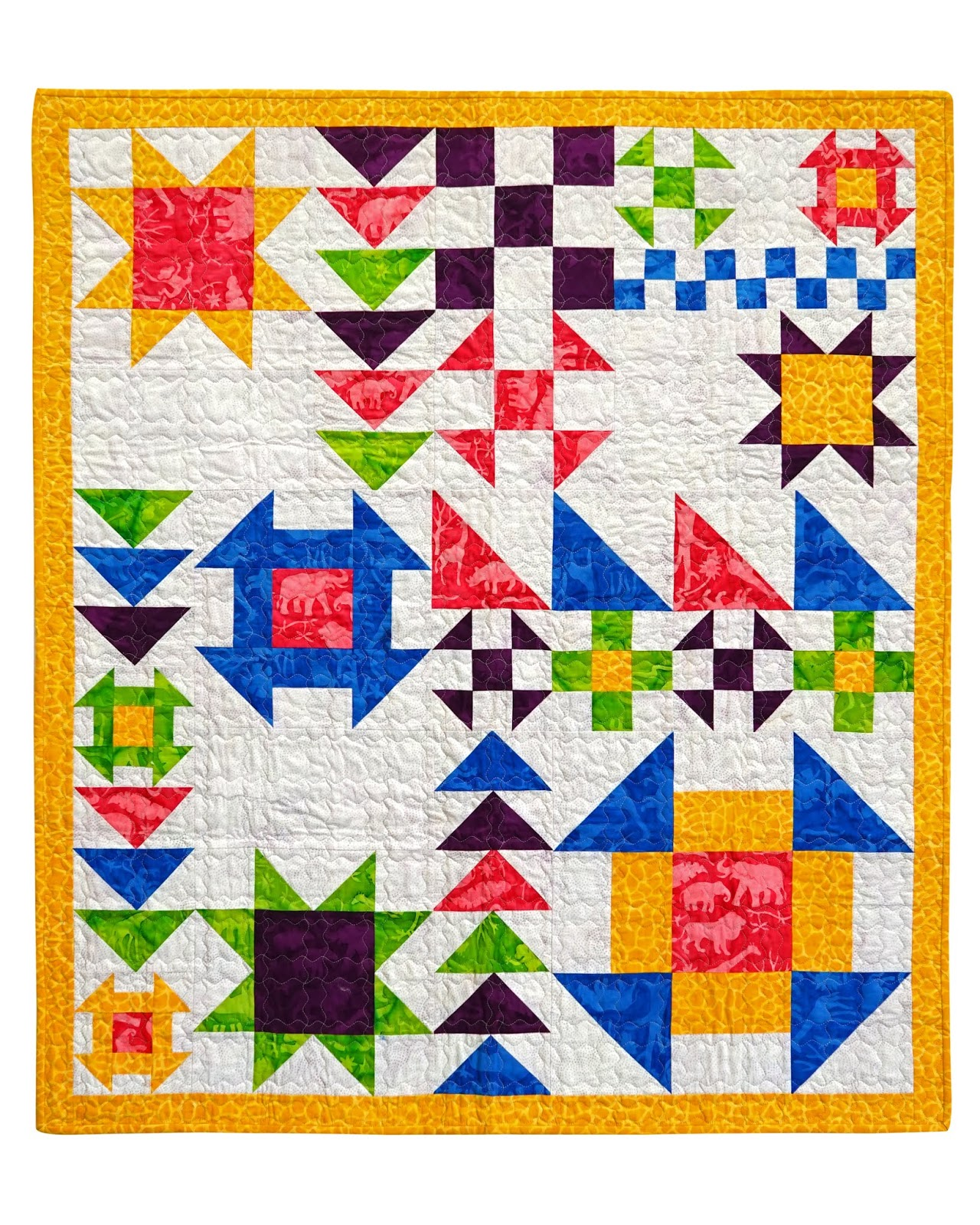 The Quilt Pictured Is Made With Fabric Provided By Island
