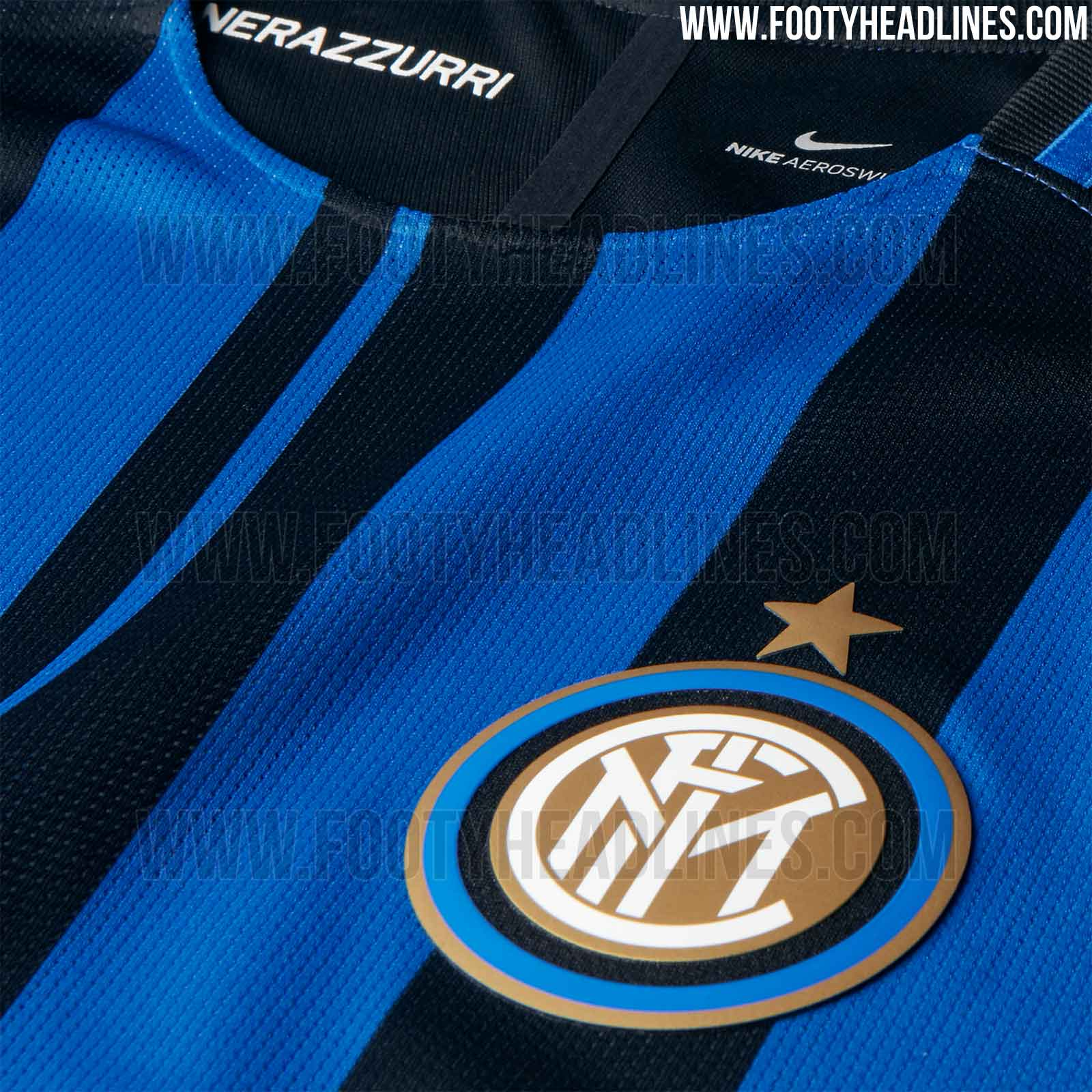 Inter milan 17 18 home kit released footy headlines for Inter designing