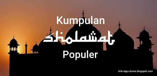 Sholawat Populer Kumpulan lirik lagu