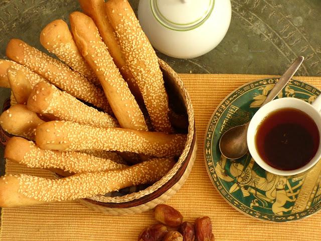 Ägyptisches Frühstück Brotstangen