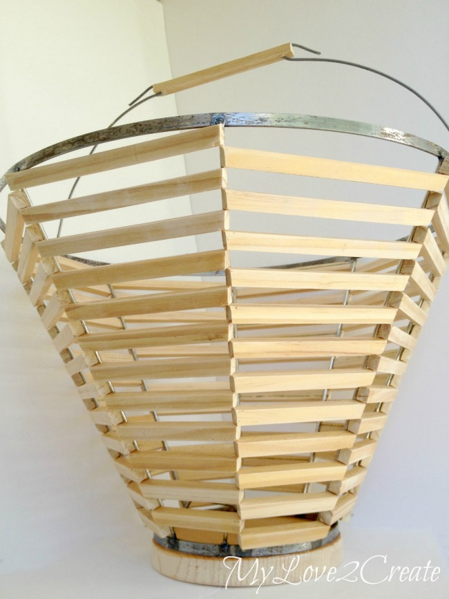 Salvage Style, Lamp Shade Basket | My Love 2 Create