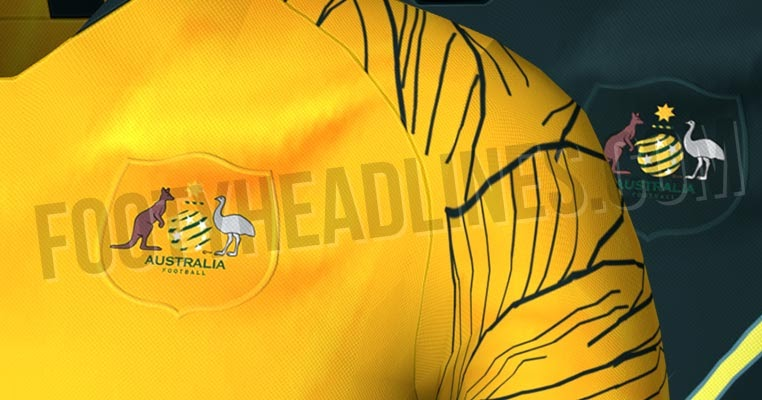Australia 2018 world cup home and away kits leaked footy for World no 1 home