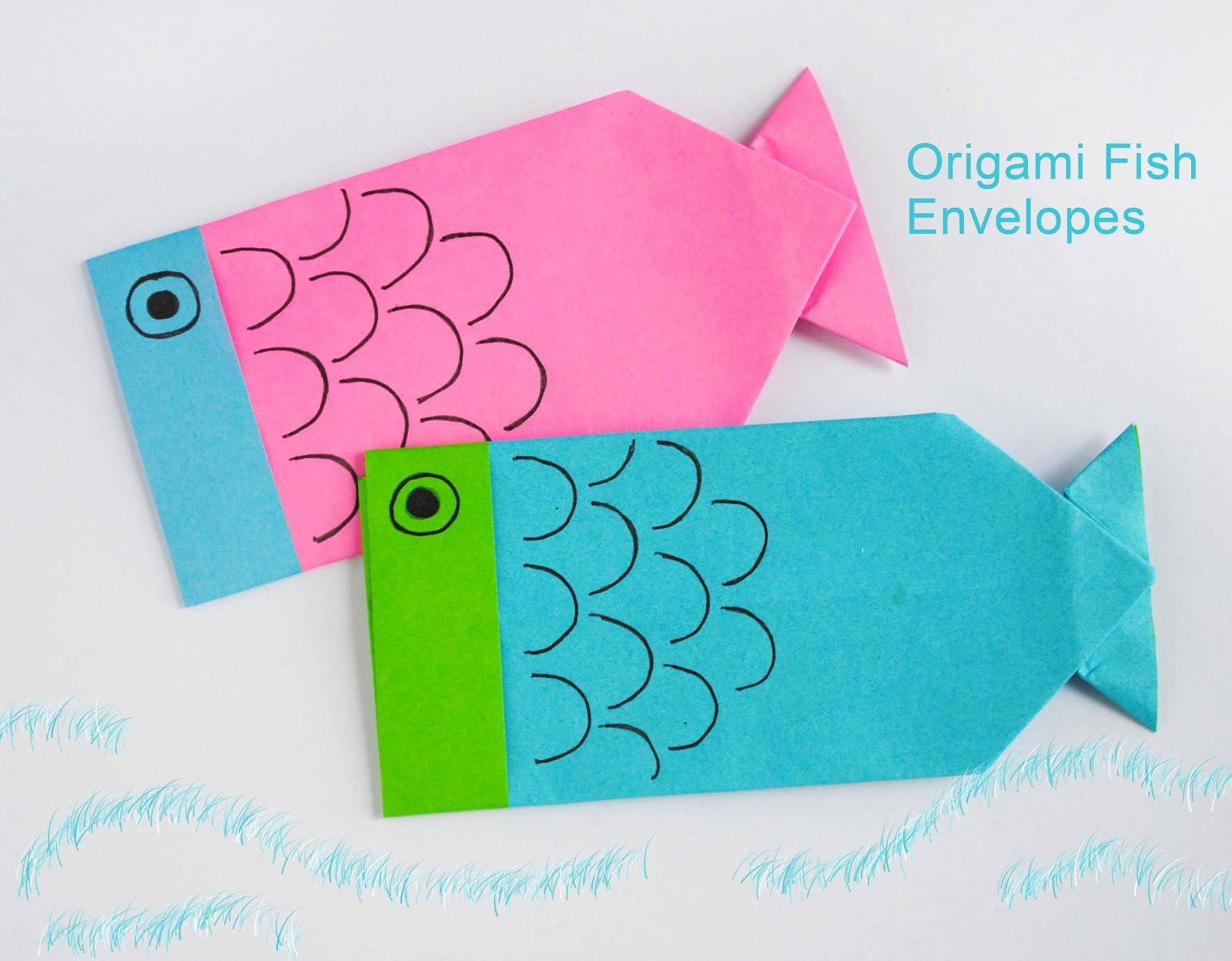 zakka life: Origami Fish Envelopes - photo#22