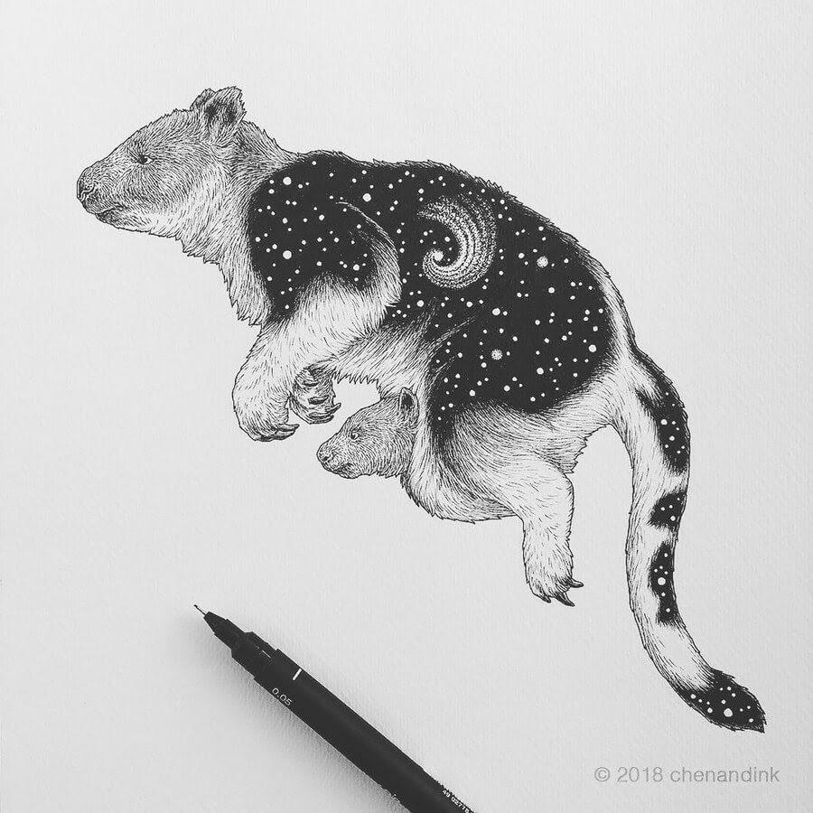 09-Goodfellow-s-Tree-kangaroo-Astral-Animals-Chen-Naje-www-designstack-co