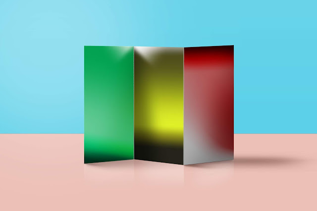 موك اب بروشور 3 طية رائع وجميل brochure3 psd