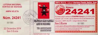 Loteria Navidad 2014 AMPA Veleta de Huetor Vega