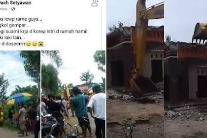 Viral Video TKI Korea Bawa Buldoser Robohkan Rumah di Ponorogo, Ngamuk Istri Hamil Sama Cowok Lain