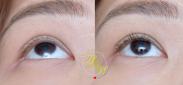 before and after photo of SNOE FLASH ON Instant Lash Extension Mascara KIT Review