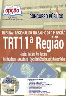 Apostila concurso TRT11ª Região 2017 Grátis CD Rom para Analista Judiciário